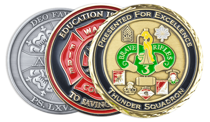Our Range of Custom Challenge Coins